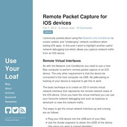 Remote Packet Capture for iOS devices
