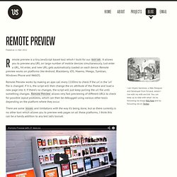 Remote Preview