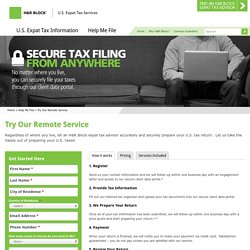 Try Our Remote Service - Expat Tax Advice & Tips - H&R Block®