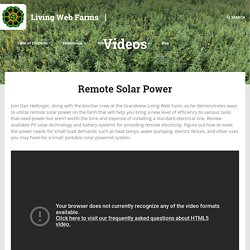 Remote Solar Power