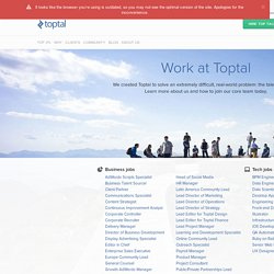 Remote Tech Jobs with Toptal