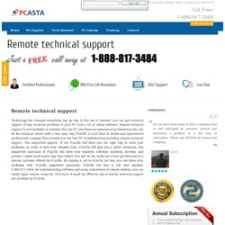 Remote technical support Help at 1-888-817-3484 Toll free Contact Number