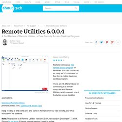 Remote Utilities 6.0.0.4 Review (A Free Remote Access Tool)