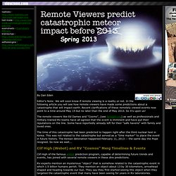 Remote Viewers predict 2012/2013 meteor impact