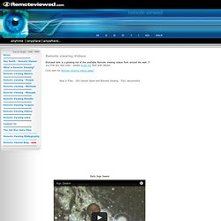 Remote Viewing Videos