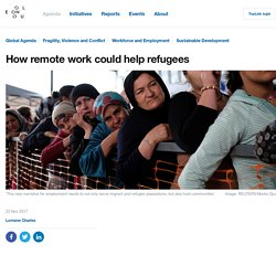 How remote work could help refugees