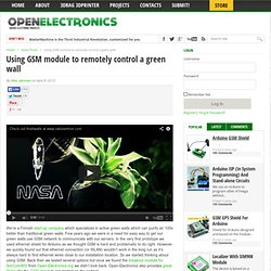 Using GSM module to remotely control a green wall