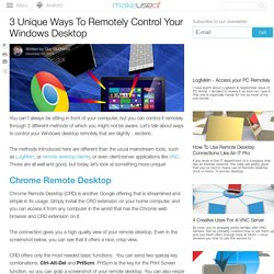 3 Unique Ways To Remotely Control Your Windows Desktop