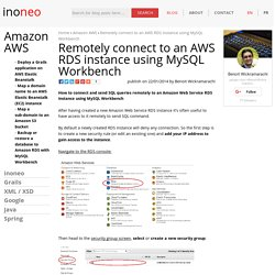 Remotely connect to an AWS RDS instance using MySQL Workbench