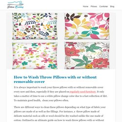 Washing throw pillows