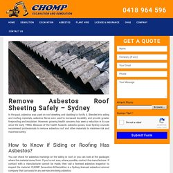 Safe Removal of Asbestos Roofing Sheets Sydney