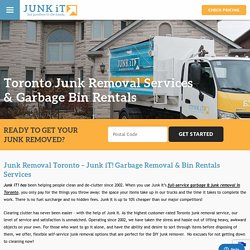 □ Junk Pick Up & Disposal Collection