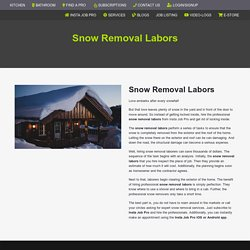 Snow Removal Labors