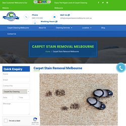 Carpet Stain Removal Melbourne - Professional Stain Removal