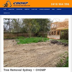 Tree Removal Sydney - CHOMP
