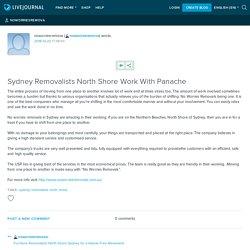 Sydney Removalists North Shore Work With Panache
