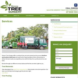 Tree Removals & Pruning - Simon's Tree Surgery Services