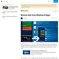 Remove Ads from Windows 8 Apps