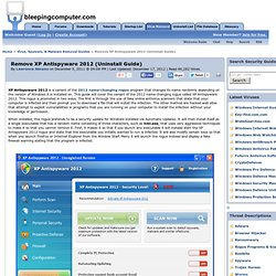 Remove XP Antispyware 2012