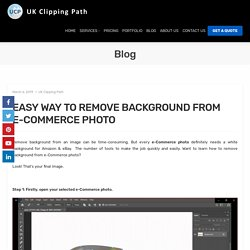 EASY WAY TO REMOVE BACKGROUND FROM E-COMMERCE PHOTO