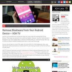 How to Remove Bloatware from Your Android Device