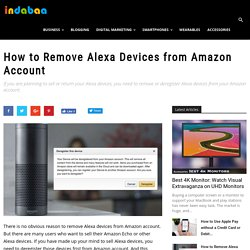 How to Remove Alexa Devices from Amazon Account