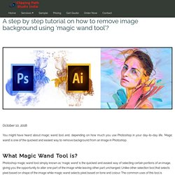 How to Remove Image Background Using - Magic Wand Tool