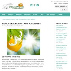 Remove Laundry Stains Naturally