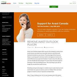 Remove Avast Outlook Plugin