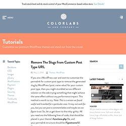 Remove The Slugs from Custom Post Type URL
