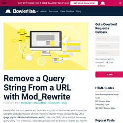 Remove a Query String From a URL with Mod_Rewrite