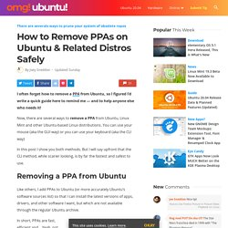 How to Remove PPAs on Ubuntu & Related Distros Safely
