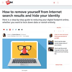 Remove yourself from people search sites and erase your online presence