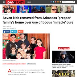 Seven kids removed from Arkansas 'prepper' family's home over use of bogus 'm...