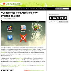 VLC removed from App Store, now available on Cydia