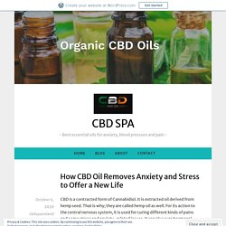 How CBD Oil Removes Anxiety and Stress to Offer a New Life – CBD SPA