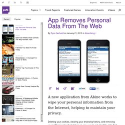 App Removes Personal Data From The Web - PSFK