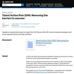 Talent Action Plan 2016: Removing the barriers to success