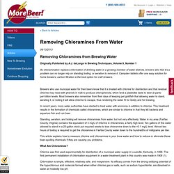 Removing Chloramines From Water