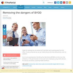 Removing the dangers of BYOD