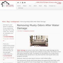 Removing Musty Odors After Water Damage