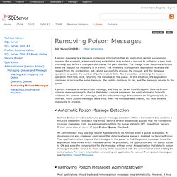 Removing Poison Messages