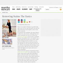 Removing Stains: The Basics - Martha Stewart Home & Garden