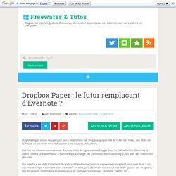 Dropbox Paper : le futur remplaçant d'Evernote ?