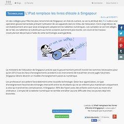 L'iPad remplace les livres d'école à Singapour