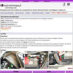 Remplacement des fusibles du compartiment moteur Renault Scénic II et Mégane II (phase 2)