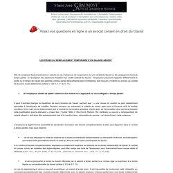 LES PIEGES DU REMPLACEMENT TEMPORAIRE D'UN SALARIE ABSENT