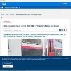 Remplacement des trains du RER B : l'appel d'offres a été lancé