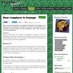 Pour remplacer le fromage - Vegan Québec