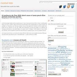 Pour remplacer googlereader : 6 Lecteurs de flux RSS